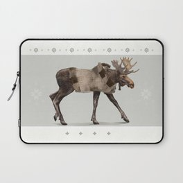 Warmly clothed moose Laptop Sleeve
