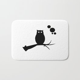 the owl awake Bath Mat