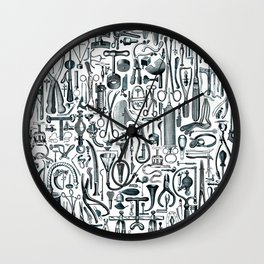Medical Condition FADED DENIM / Vintage medical instruments, take two of these and call me in the mo Wall Clock