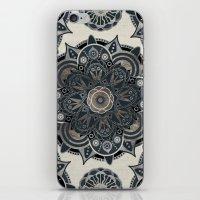 islam iPhone & iPod Skins featuring Silver Mandala by Mantra Mandala