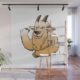 Mountain Goat cartoon. Wall Mural