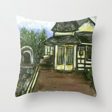 New Hope Train Station Throw Pillow