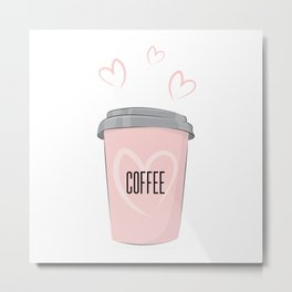 Coffee is my love Metal Print