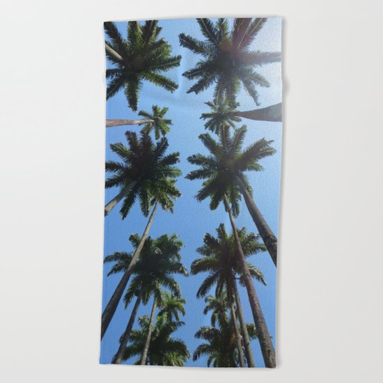 California Palm Trees Beach Towel