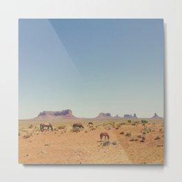 Grazing The Desert Metal Print