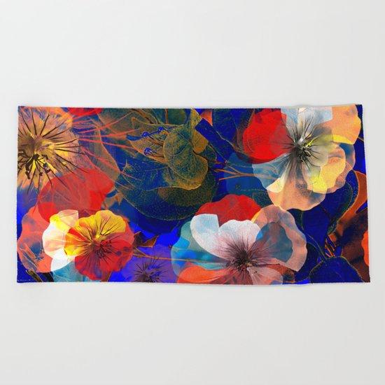 Flower carpet(54). Beach Towel