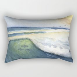 Warm Waves Rectangular Pillow