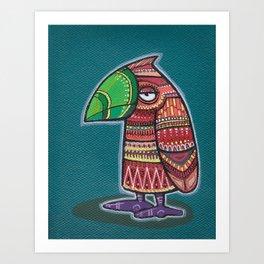 Doodlebird Orangey Art Print
