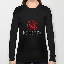 Beretta Gun Sniper Riffle Firearms Logo Men Black Gun T-Shirts Long Sleeve T-shirt