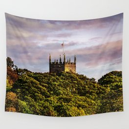 Harthill church in autumn light Wall Tapestry