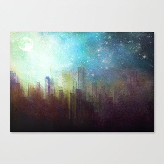 Sad city Canvas Print