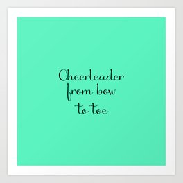 Cheerleader - Mint Art Print