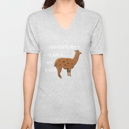 Adventure Alpaca My Bags Vacation Shirt Adventure Shirt Unisex V-Neck
