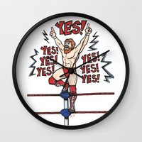 wwe Wall Clocks featuring Daniel Bryan (WWE) by RandallTrang