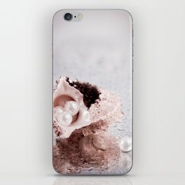Elegant STILL LIFE with sea shell and pearls iPhone Skin