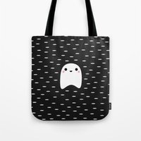 ghost Tote Bags featuring Ghost by Elisabeth Fredriksson