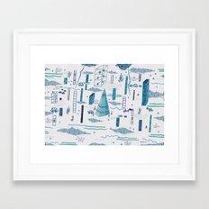 Northern Town Framed Art Print