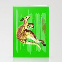 kangaroo Stationery Cards featuring Kangaroo by wingnang