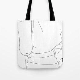 Fashion illustration line drawing - Cairo Tote Bag