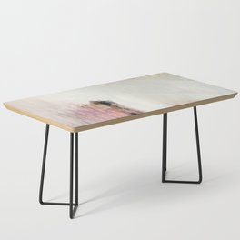 Sunrise [2]: a bright, colorful abstract piece in pink, gold, black,and white Coffee Table
