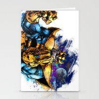 thanos Stationery Cards featuring Thanos by Vincent Vernacatola