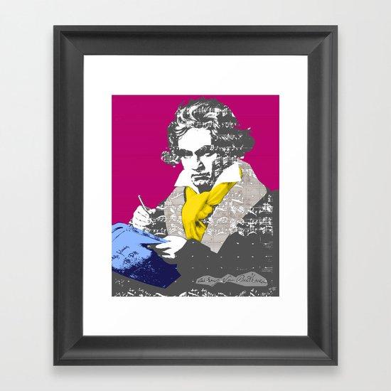 Ludwig van Beethoven 7 Framed Art Print
