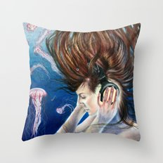Deep Sounds Throw Pillow