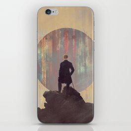 Wanderer above the sea of color iPhone Skin