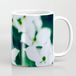 Bouquet Of White Flowers With Blurry Edit Coffee Mug