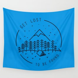 Get lost to be found Wall Tapestry