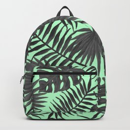 Charcoal Tropical Vines Backpack