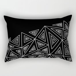 Abstract black and white pattern.Triangles 2 . Rectangular Pillow