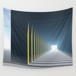 Linear Perspective of Light Wall Tapestry