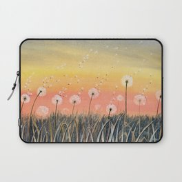 Up, Up and Away - Dandelion Watercolor Laptop Sleeve