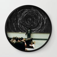 study Wall Clocks featuring study by Ashley Moye