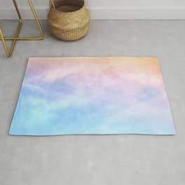 Pink Cotton Candy Sky Rug