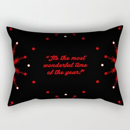 """I'ts the most... """"Edward Pola and George Wyle"""" Christmas Quote Rectangular Pillow"""