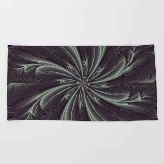 Out of the Darkness Fractal Bloom Beach Towel