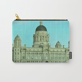 Port of Liverpool Building (Digital Art) Carry-All Pouch