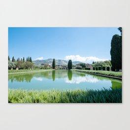 Italian Landscape in Tivoli Canvas Print