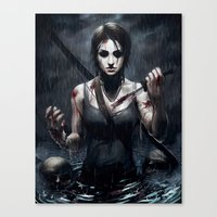 tomb raider Canvas Prints featuring Tomb Raider by Max Grecke