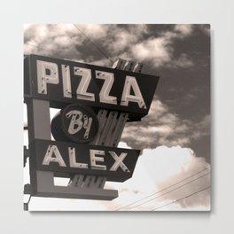 Pizza By Alex Metal Print