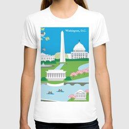Washington, D.C. - Skyline Illustration by Loose Petals T-shirt