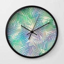 Palm Leaf Pattern Wall Clock