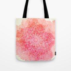 Pink Watercolor Mandala #lifestyle #society6 Tote Bag