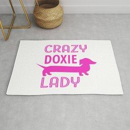 Crazy Dachshund Lady Rug