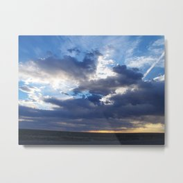 Stormy New Mexico Sunset Metal Print