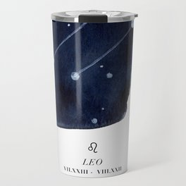 Zodiac Star Constellation - Leo Travel Mug