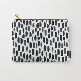 Black and White Dotty Pattern Carry-All Pouch