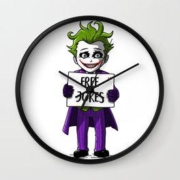 Free jokes 2 Wall Clock